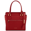 TL141644 Lara Leather Handbag - Red by Tuscany Leather