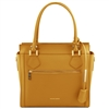 TL141644 Lara Leather Handbag - Mustard by Tuscany Leather