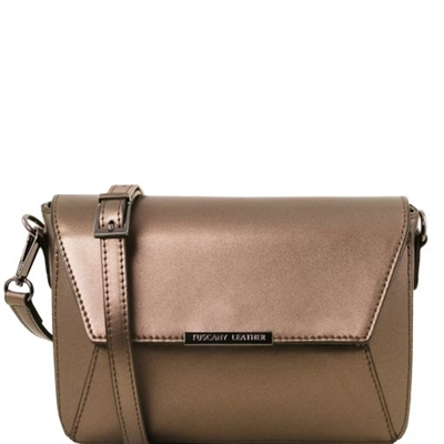 Tuscany Leather TL141649 Metallic Bag Bronze
