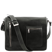 Tuscany Leather TL141650 Leather Messenger Laptop Bag