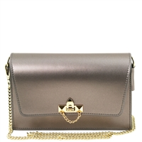 TL141654 Ruga Leather Bag - Metallic Grey