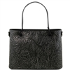 Tuscany Leather TL141655 Atena Leather Tote - Black