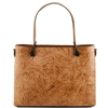 Tuscany Leather TL141655 Atena Leather Tote - Cognac
