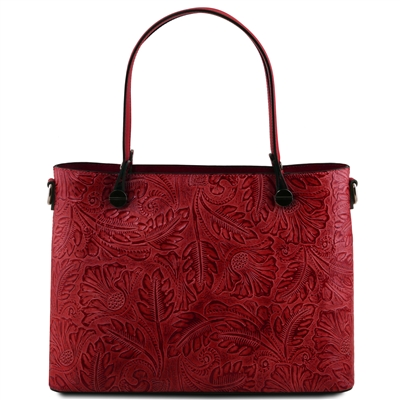 Tuscany Leather TL141655 Atena Leather Tote - Red