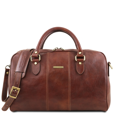 Tuscany Leather TL141658 Lisbona Leather Duffel Bag - Small