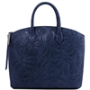 TL141670 Gaia Leather Tote - Blue