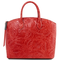 TL141670 Gaia Leather Tote - Red