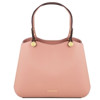 TL141684 Anna Leather Handbag by Tuscany Leather Nude