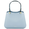 TL141684 Anna Leather Handbag by Tuscany Leather Light Blue