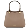 TL141684 Anna Leather Handbag by Tuscany Leather Taupe