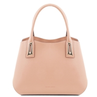 TL141694 Flora Leather Handbag by Tuscany Leather Nude