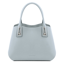 TL141694 Flora Leather Handbag by Tuscany Leather Light Blue