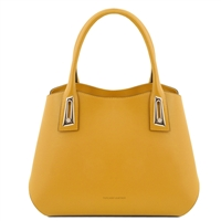 TL141694 Flora Leather Handbag by Tuscany Leather Mustard