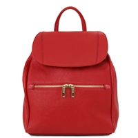 TL141697 Leather Backpack by Tuscany Leather Red