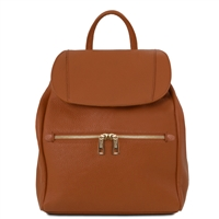 TL141697 Leather Backpack - Cognac by Tuscany Leather