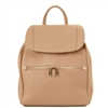 TL141697 Leather Backpack by Tuscany Leather Champagne