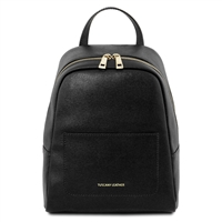 TL141701 Saffiano Leather Backpack for Women - Black