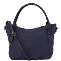 TL141705 Soft Leather Handbag - Blue by Tuscany Leather