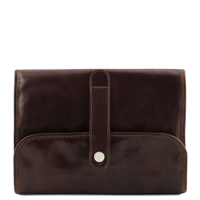 Tuscany Leather TL141716 Travel Nécessaire - Dark Brown