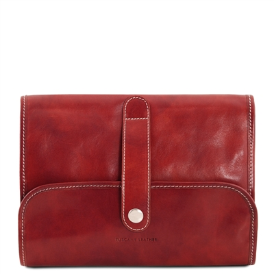 Tuscany Leather TL141716 Travel Nécessaire - Red