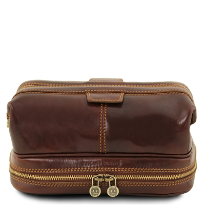 Tuscany Leather TL141717 Patrick Toiletry Bag - Brown