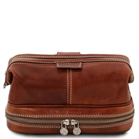 Tuscany Leather TL141717 Patrick Toiletry Bag - Honey
