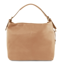 Tuscany Leather Bag TL141719 Soft Leather Hobo Bag - Champagne