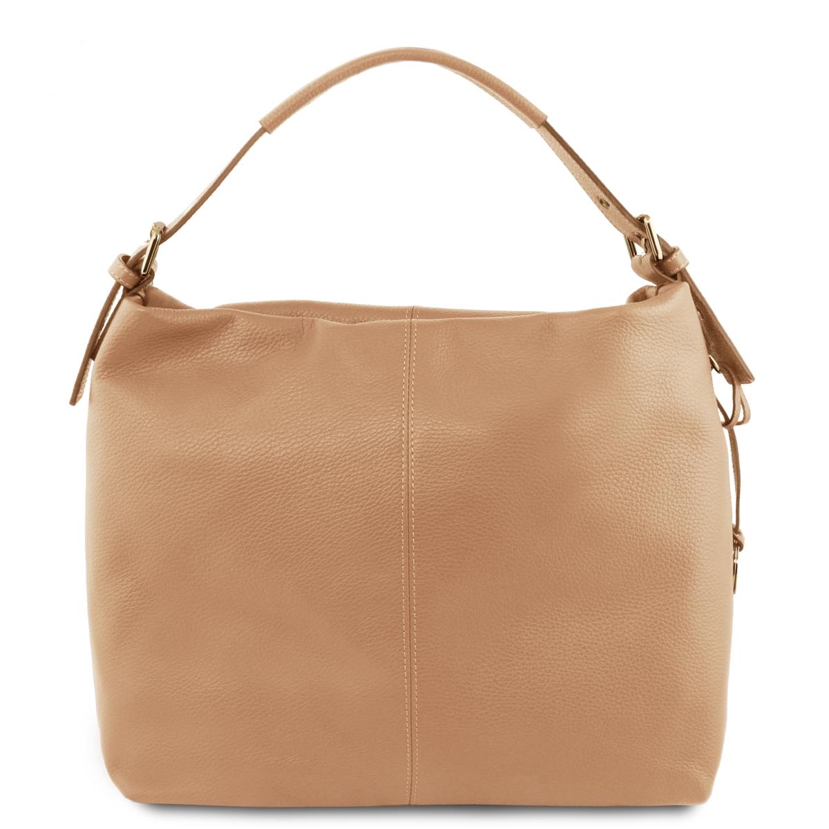 10e40a1e969a Tuscany Leather Bag TL141719 Soft Leather Hobo Bag - Champagne