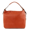 Tuscany Leather Bag TL141719 Soft Leather Hobo Bag - Brandy