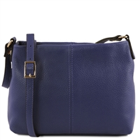 TL141720 Small Soft Blue Leather Shoulder Bag Tuscany Leather