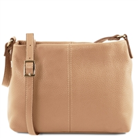 Small Soft Leather Shoulder Bag - Champagne | Tuscany Leather Australia