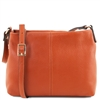 Small Soft Leather Shoulder Bag - Brandy | Tuscany Leather Australia