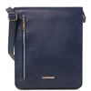 Tuscany Leather TL141723 Cesare Messenger Bag - Blue