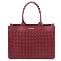 Tuscany Leather Woven Red Leather Handbag | Australia