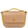 TL141684 Primula Leather Clutch Handbag in Champagne by Tuscany Leather
