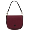 Tuscany Leather TL141726 Rosa Leather Shoulder Bag Bordeaux