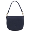 Tuscany Leather TL141726 Rosa Leather Shoulder Bag Dark Blue