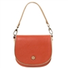 Tuscany Leather TL141726 Rosa Leather Shoulder Bag Brandy