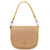 Tuscany Leather TL141726 Rosa Leather Shoulder Bag Champagne