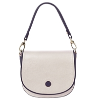 Tuscany Leather TL141726 Rosa Leather Shoulder Bag White