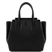 Tuscany Leather TL141727 Tulipan Leather Handbag - Black