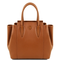 Tuscany Leather TL141727 Tulipan Leather Handbag - Cognac