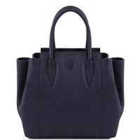 Tuscany Leather TL141727 Tulipan Leather Handbag - Dark Blue