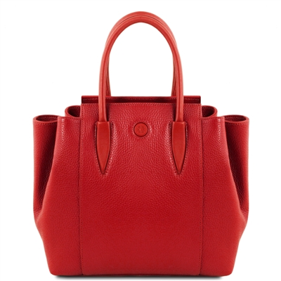 Tuscany Leather TL141727 Tulipan Leather Handbag - Red