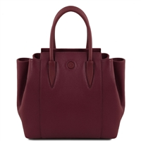 Tuscany Leather TL141727 Tulipan Leather Handbag - Bordeaux