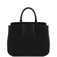Tuscany Leather TL141728 Camelia Leather Handbag - Black