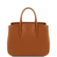 Tuscany Leather TL141728 Camelia Leather Handbag - Cognac