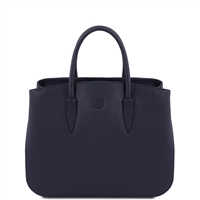 Tuscany Leather TL141728 Camelia Leather Handbag - Dark Blue