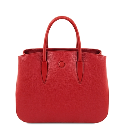 Tuscany Leather TL141728 Camelia Leather Handbag - Red