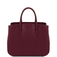 Tuscany Leather TL141728 Camelia Leather Handbag - Bordeaux